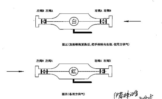 液相自动切换阀内部结构示意简图